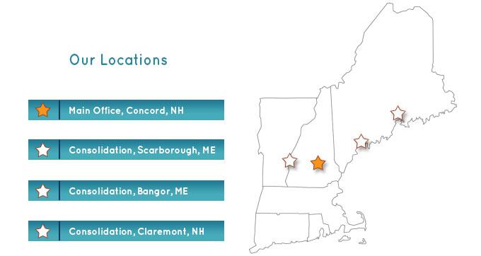 North Coast Services locations map